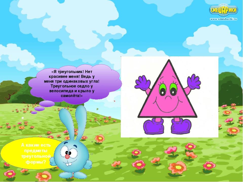 ! «Я треугольник! Нет красивее меня! Ведь у меня три одинаковых угла! Треугол...