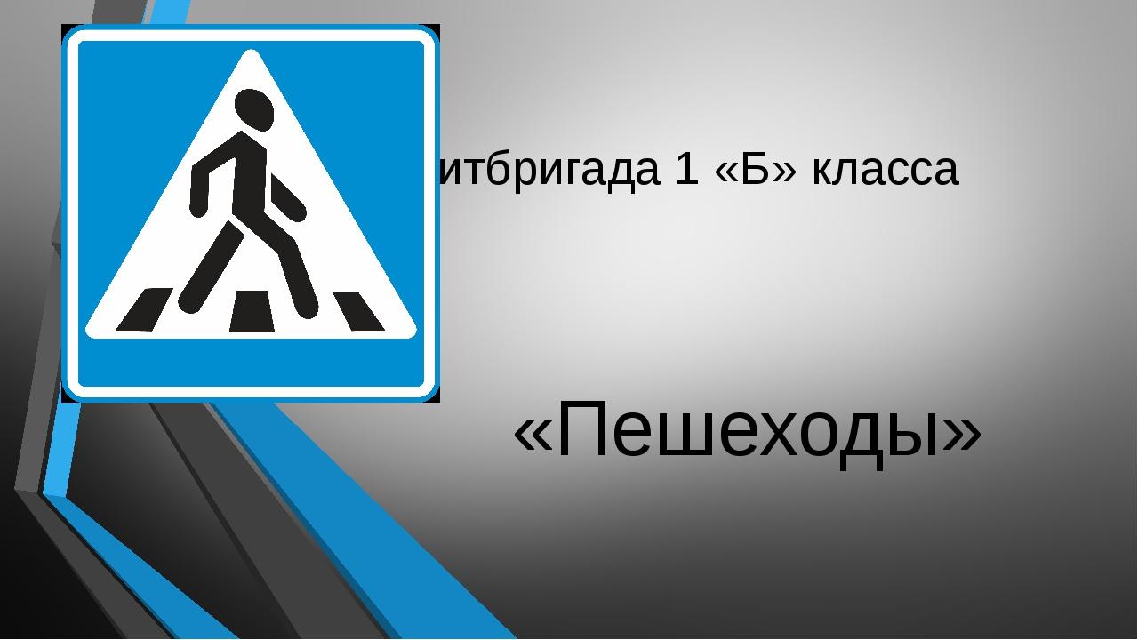 Агитбригада 1 «Б» класса «Пешеходы»