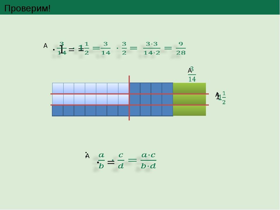 Проверим! При помощи формулы правило можно записать так: