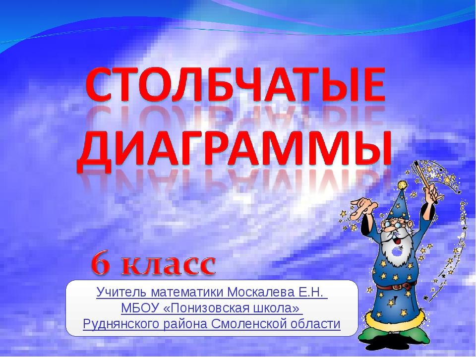 Учитель математики Москалева Е.Н. МБОУ «Понизовская школа» Руднянского района...