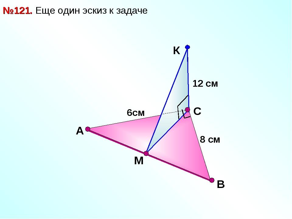 В №121. Еще один эскиз к задаче С А М 12 см 8 см 6см