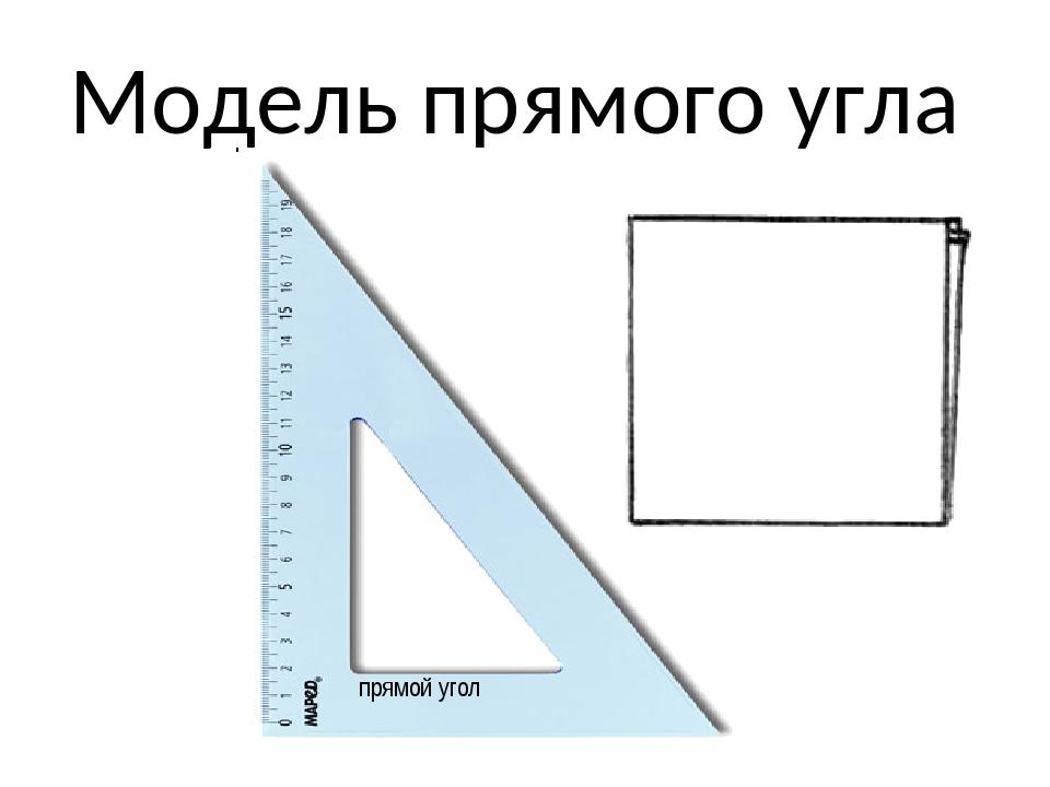 Модель прямого угла прямой угол